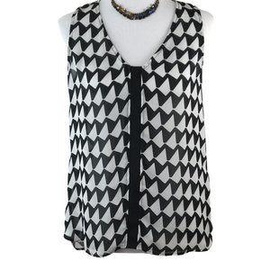 Banana Republic Black & White Sleeveless Tunic S